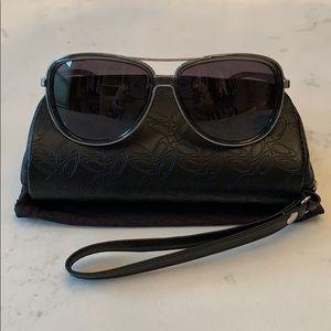 Oakley Split Time Black & Silver Sunglasses